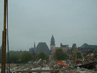 [Skyline und Baustelle in Wiesbaden]