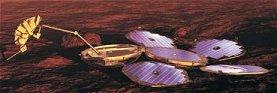 [Bild: Der Beagle 2 bei der Arbeit, ESA-Grafik]