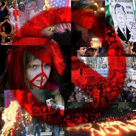 [Impressionen von den Antikriegsdemonstrationen am 15.3.2003 auf der ganzen Welt]