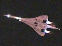BBC-Foto: Concorde startet zu ihrem letzten Flug nach NY