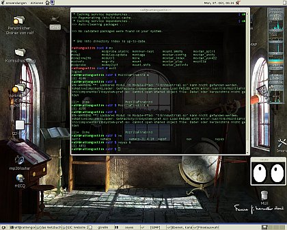 [Screenshot Gentoo-Linux mit Gnome 2.4