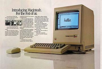 Bild: Anzeige für den ersten Macintosh 1984