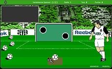 [Screenshot: Borussia Torwand Challenge]
