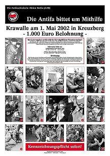 [Der Berliner Polizei, den großen Künstlern, gewidmet
