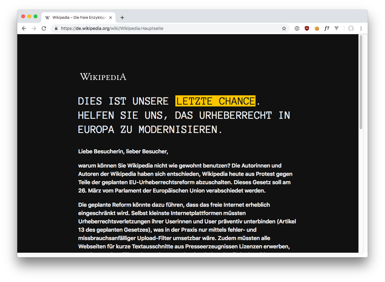 Screenshot: Wikipedia am 21.3.2019